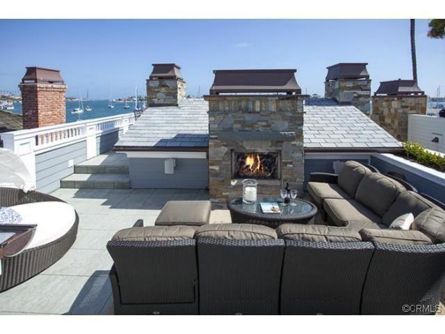 Rooftop deck newport beach outdoor spaces pinterest for Beach house plans rooftop deck