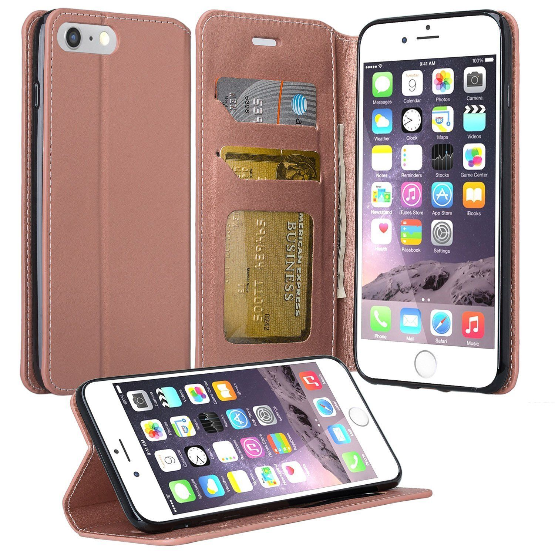 iPhone 8 Plus iPhone 7 Plus Case Microseven Flip Folio [Kickstand Feature]