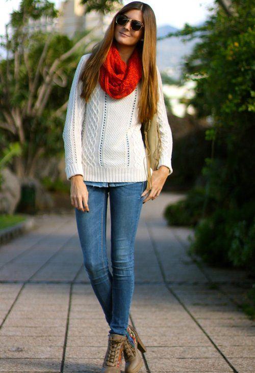 beautiful outfit bufanda azul o