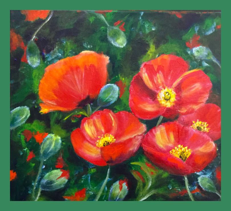 Art Nouveau Inspired California Poppy By Mason Larose: California Poppies By Kathy Evans. Inspired By A Tutorial