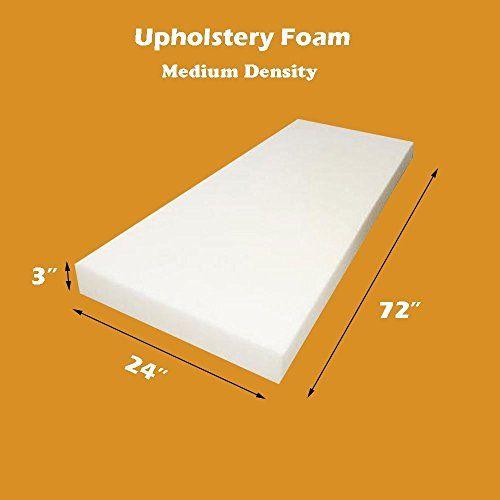 "Upholstery Foam Cushion Sheet 18/""x72/"" Medium Density Sofa Cushion Mattresses"