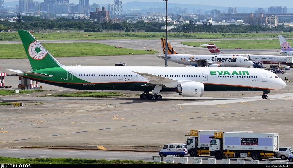 Eva Air (Taiwan) Boeing 78710 Dreamliner (registered B