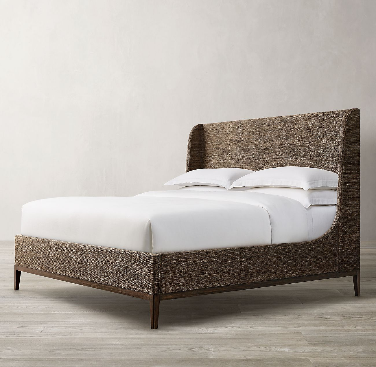 Marisol Seagrass Slope Bed Wood Beds Bed Seagrass Headboard