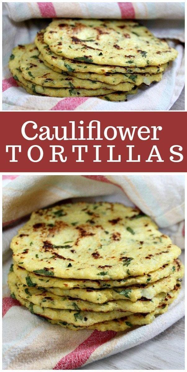 Recettes de tortillas de chou-fleur de RecipeGirl.com # Chou-fleur #Tortillas #C…