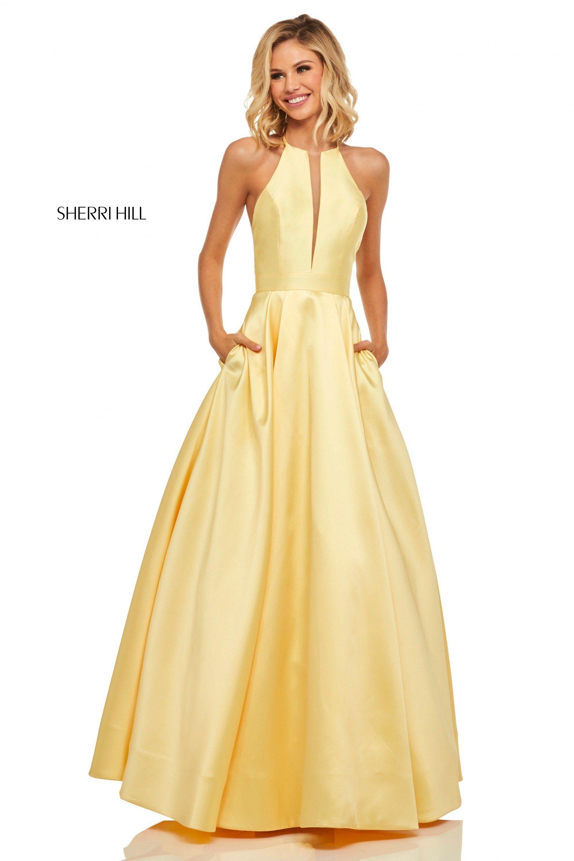 f77d37788e Sherri Hill 52583 High Neck A-Line Ball Gown in 2019
