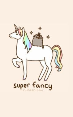 I Have This Type Shirt Except With A Black Background Pusheen