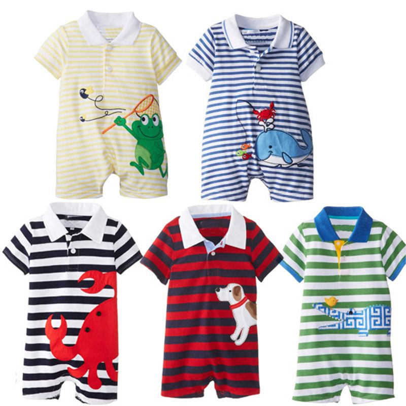 f5cdd95f0536 2017 Baby Rompers Summer Baby Boy Clothing Sets Roupas Bebes Newborn Baby  Clothes Roupa Infant Animal Jumpsuits Baby Boy Clothes