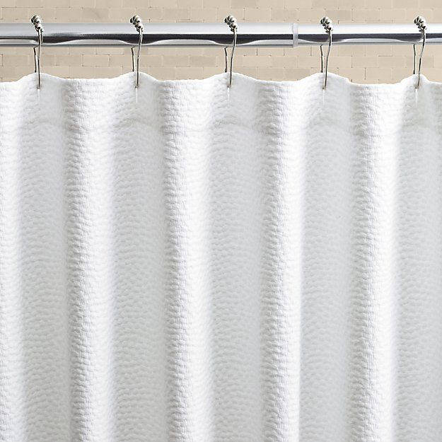 Pebble Matelasse White Shower Curtain Crate And Barrel With