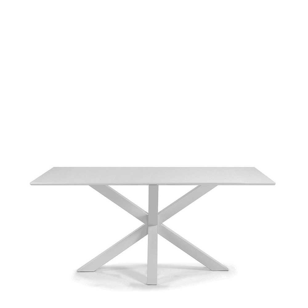Weiß Esstisch aus Stahl modern Jetzt bestellen unter: https://moebel ...