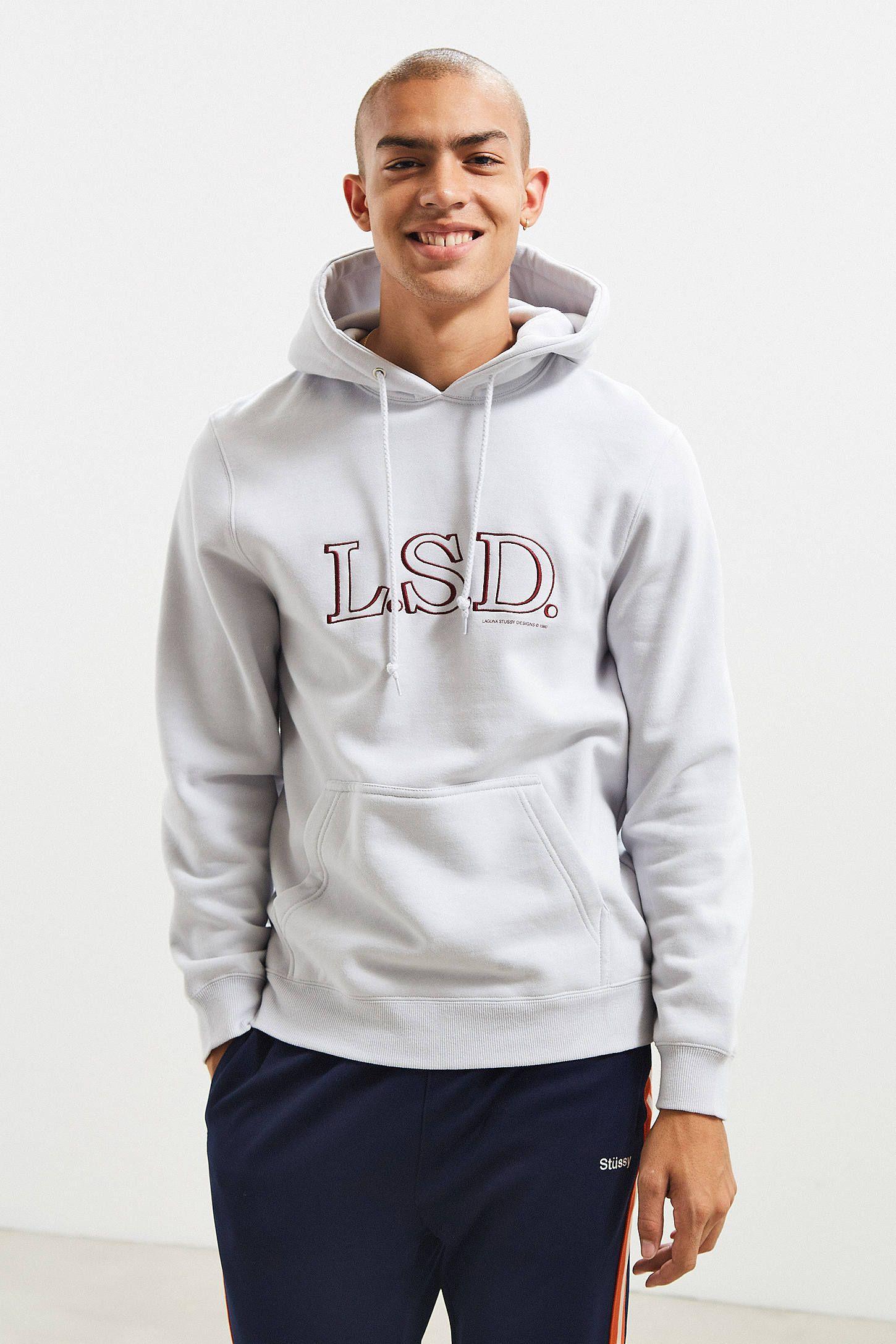 da713a72f67 Stussy LSD Embroidered Hoodie Sweatshirt