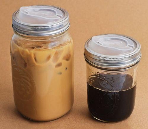 $8 lid turns mason jars into to-go coffee mugs!