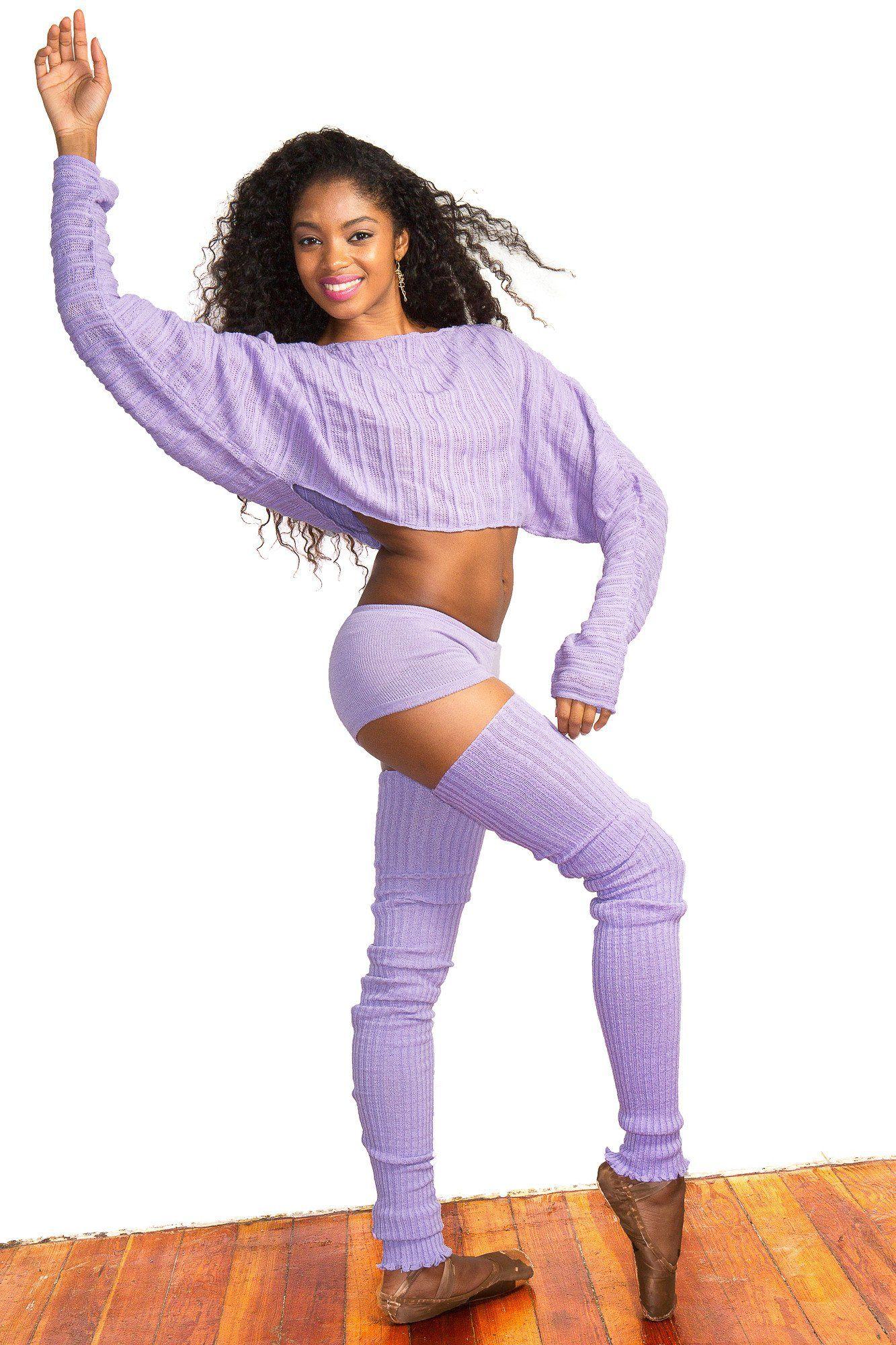 27ab809d84951 KD dance Sexy 3 Piece Stretch Knit Set Super Long 40 Inch Thigh High Leg  Warmers