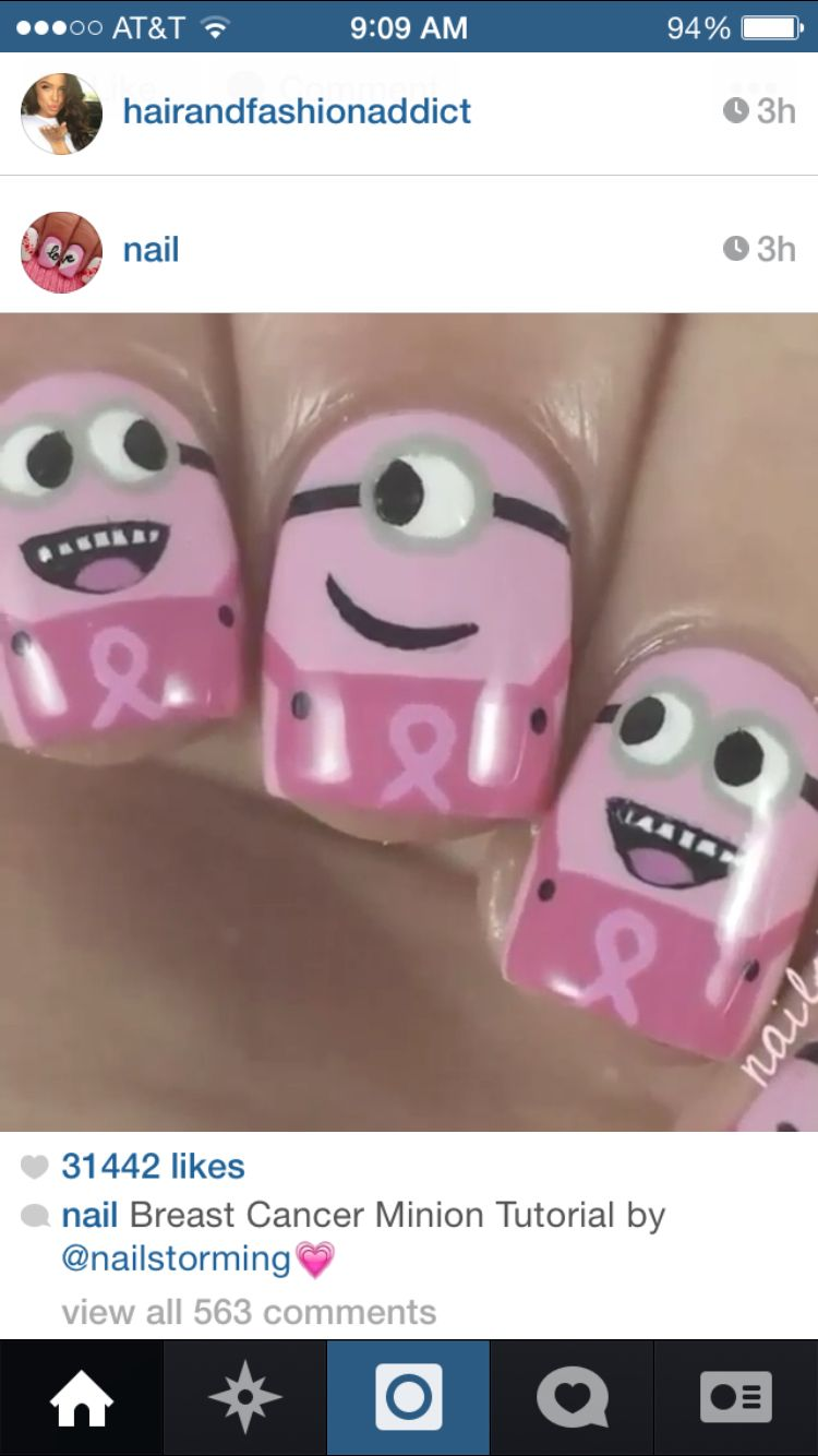 Cute despicable me minons for breast cancer awareness month | My ...