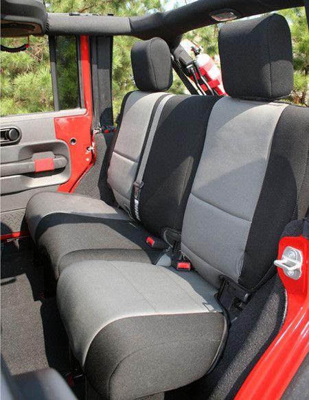 Neoprene Rear Seat Cover Black Gray By Rugged Ridge 07 18