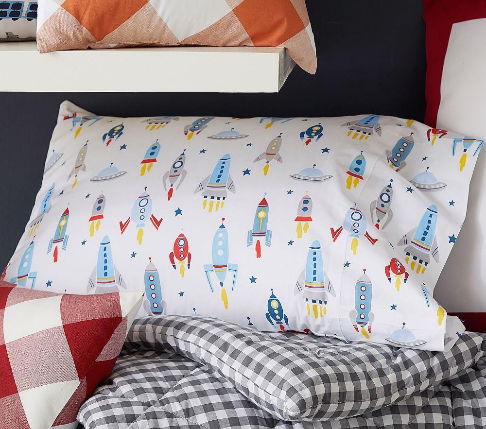 Organic Wyatt Rocket Sheet Set Kids bedding sets, Kids