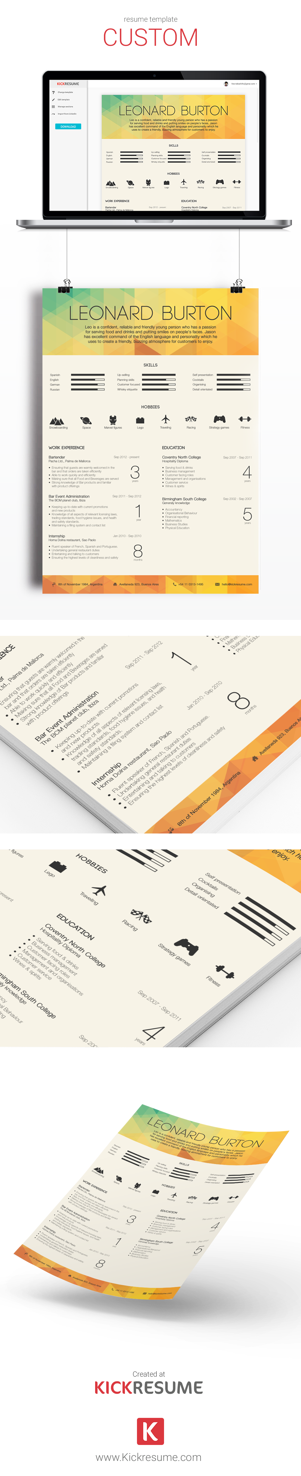 choose one of our templates created by designers and