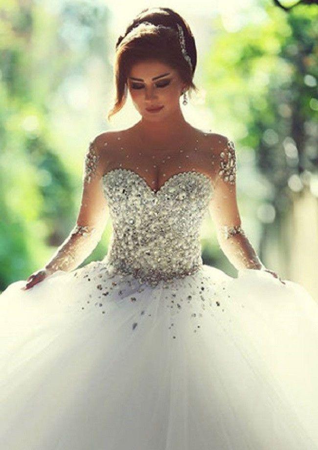 Glitzer Hochzeitskleid Prinzessin Brautkleider Wedding Dresses