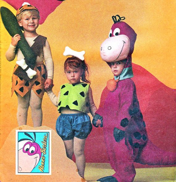 Childs Flintstones Costume Sewing Pattern Mccalls 7203 Bam Bam