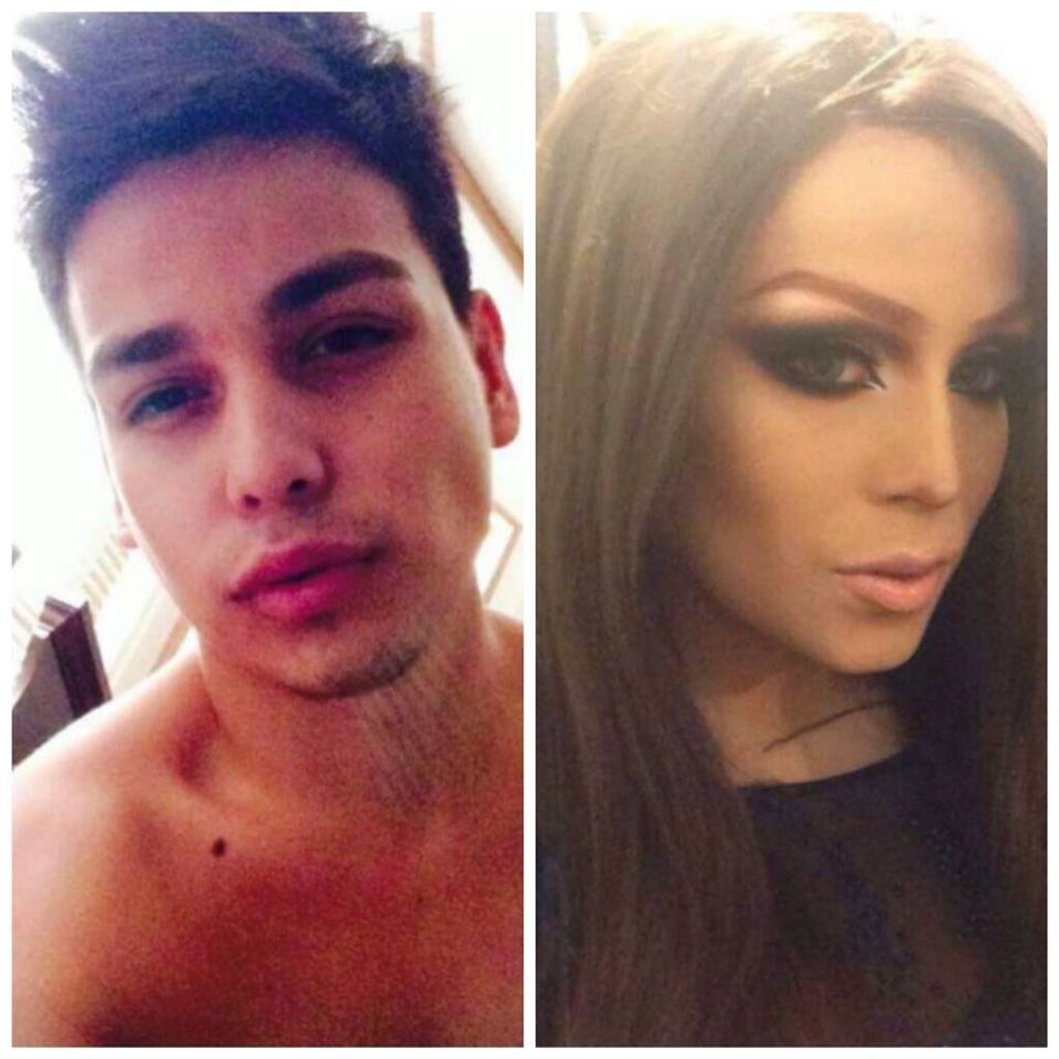 My Brother Before And After Transformation His Drag Name Is Alondra