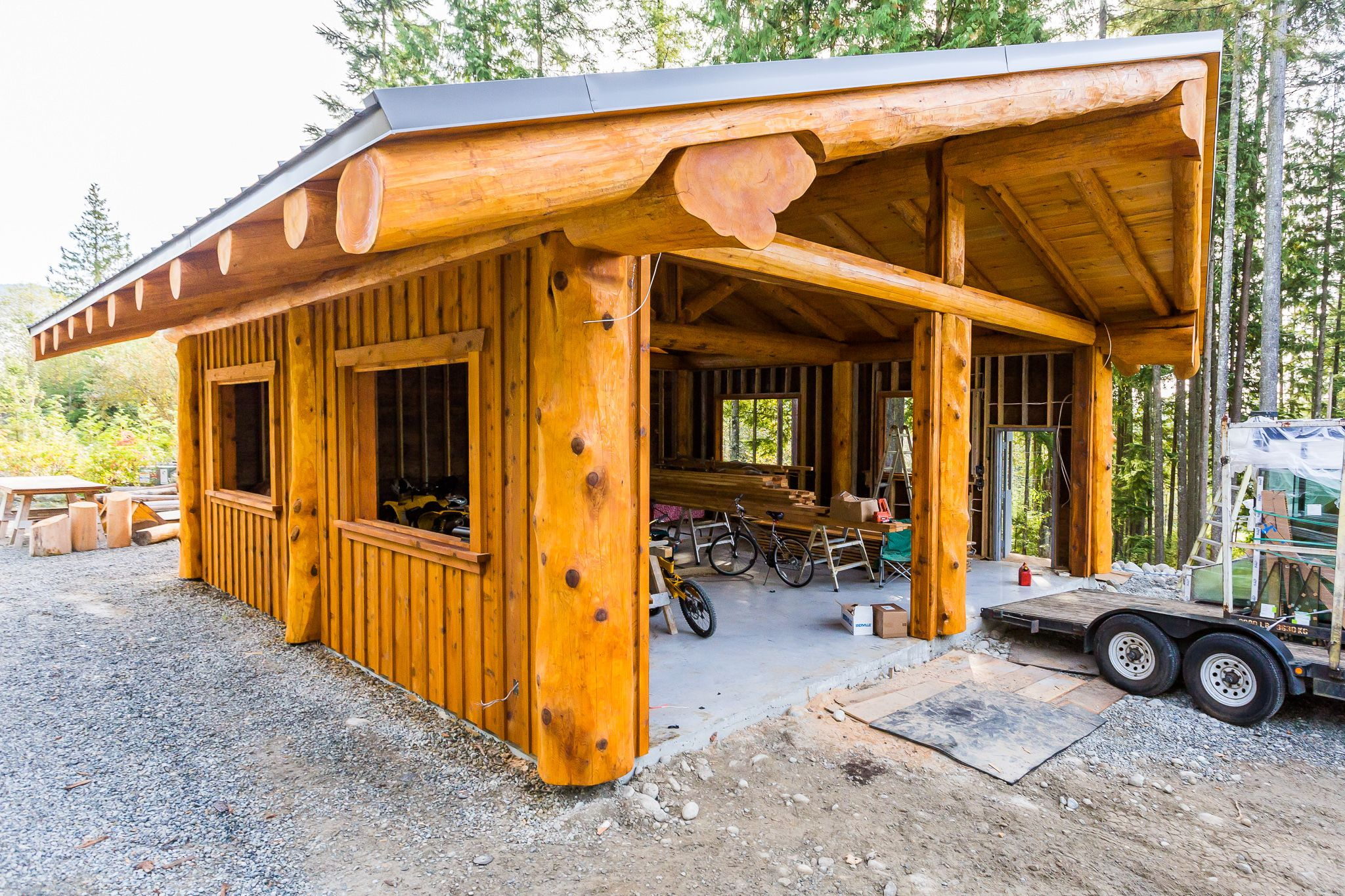 Post And Beam Workshop Artisan Log Homes Cabin
