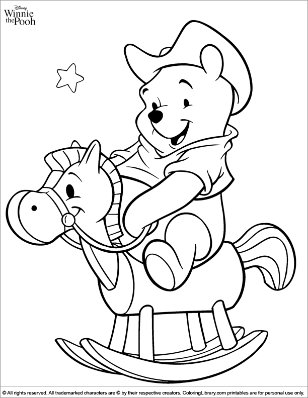 Winnie the Pooh coloring page | Cute coloring pages ...