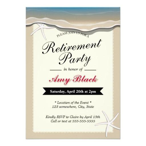 Beach Theme Starfish Retirement Party Invitation – Retirement Party Invitation Templates Free