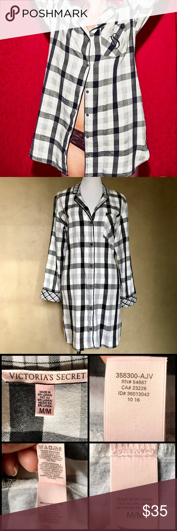 6b0b80ae619d5 Victoria's Secret EUC Long Sleeve Sleep Shirt EUC EUC Victoria's ...