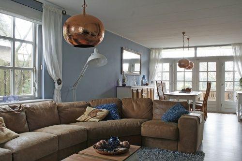 Eindresultaat woonkamer | Landelijk | Koper | Blauw | Denim ...