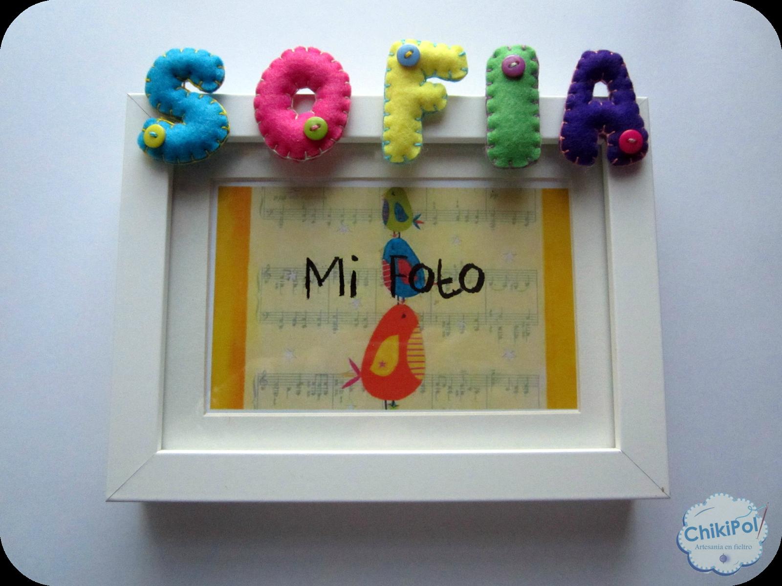 ChikiPol: Marco de Fotos para Sofía | Manualidades | Pinterest ...