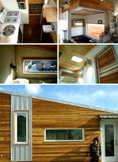 Tiny Home Designs: Log Cabin-Style Mobile Home Made For Cold Winter Weather
