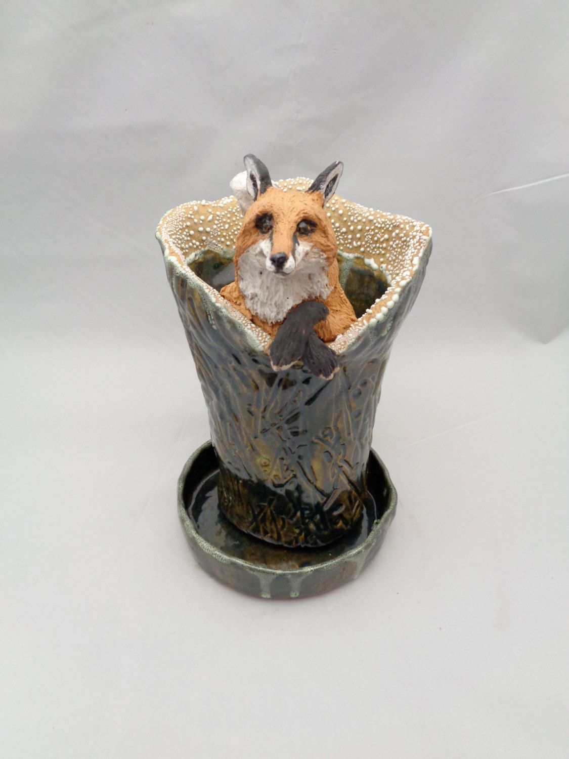Foxy fox ceramic vase by menageriem on etsy vases with faces foxy fox ceramic vase by menageriem on etsy reviewsmspy