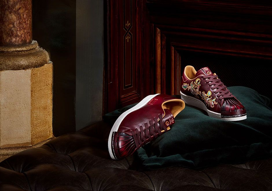 5b012bec5b73 adidas Consortium x Limited Edt Superstar Bank Vault Burgundy CP9714   thatdope  sneakers  luxury