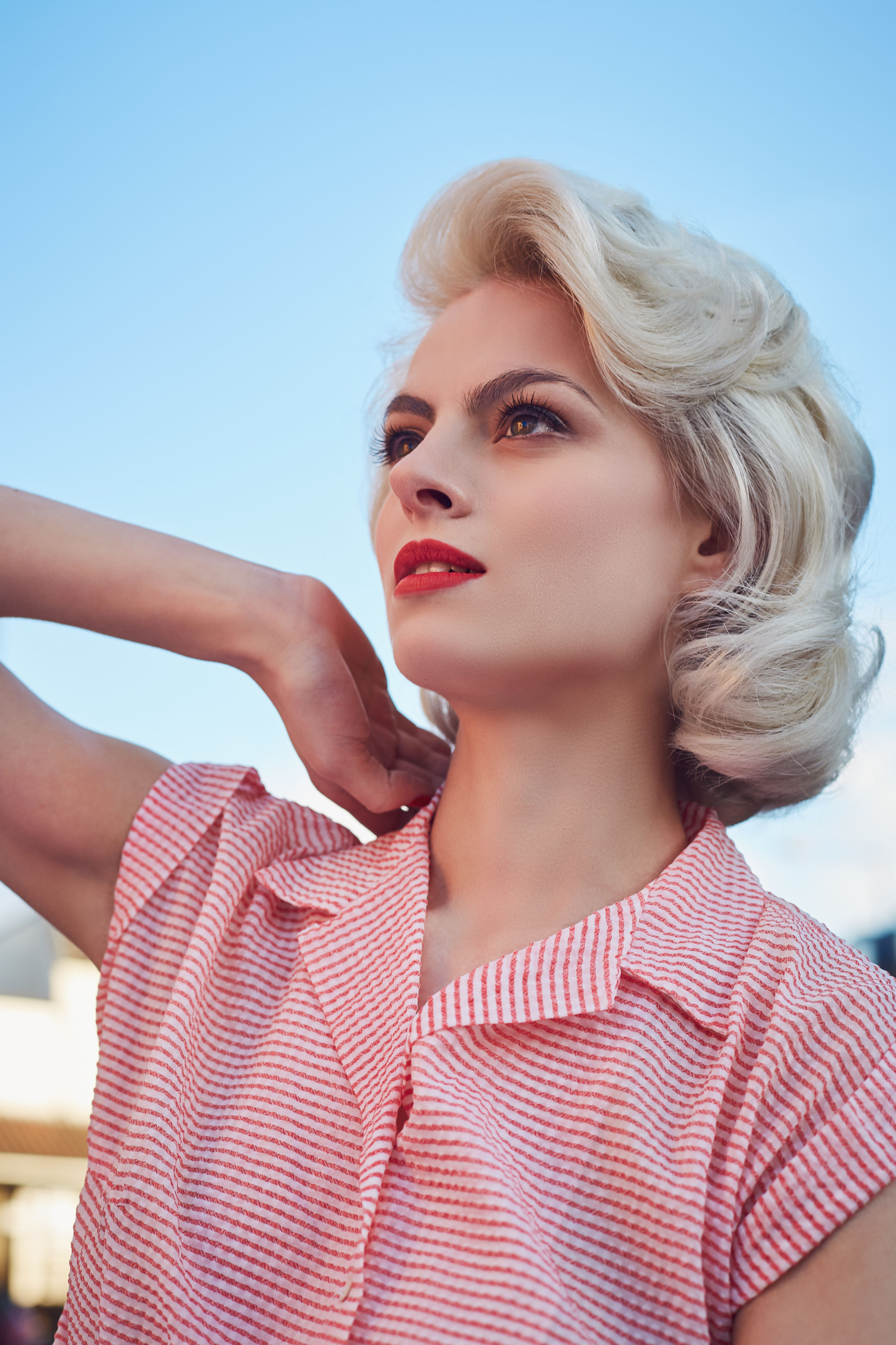 50s makeup and hair recreate monroe style Marilyn