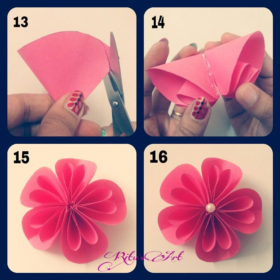 Flower Tutorial Paper Flowers Pinterest Flower Origami And