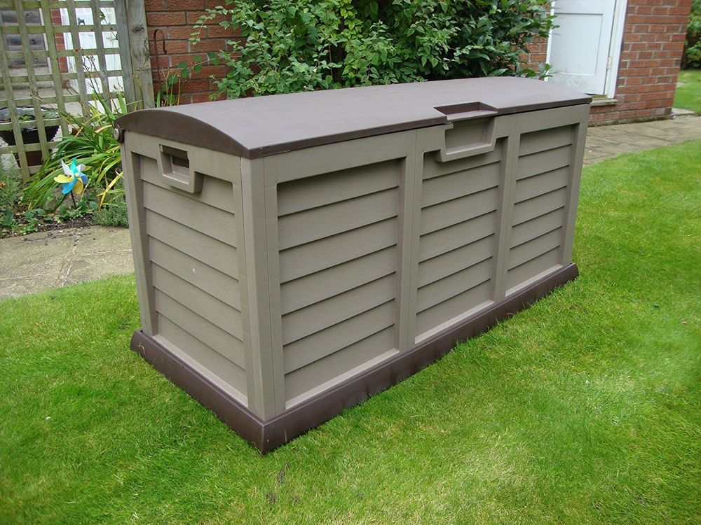 Large Garden Chest Shed Plastic Waterproof Outdoor Storage Box
