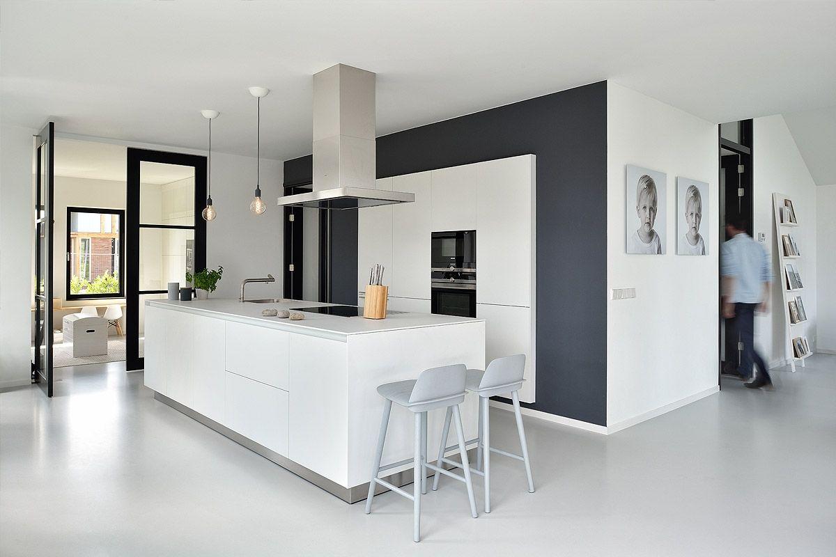 Keuken Gietvloer Witte : Afbeeldingsresultaat voor gietvloer witte keuken keuken vloer