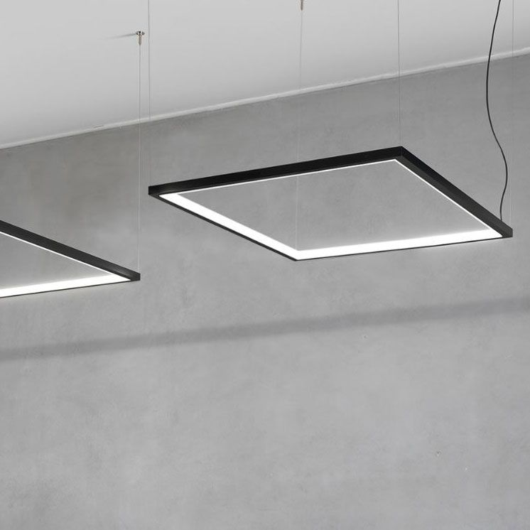 Circus Square Suspension By And Costa S1000 Square Bk In 2020 Linear Lighting Retail Lighting Ceiling Light Design