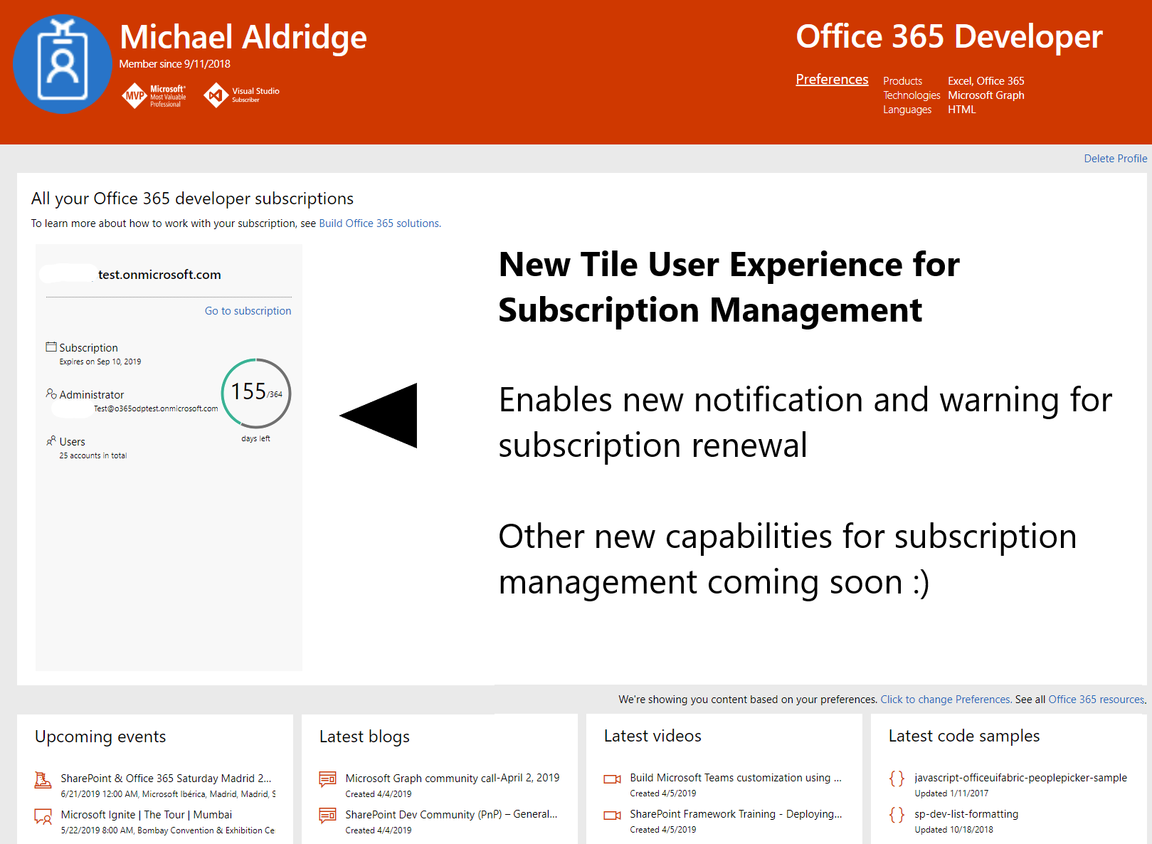 New renewable Office 365 developer subscriptions launch on