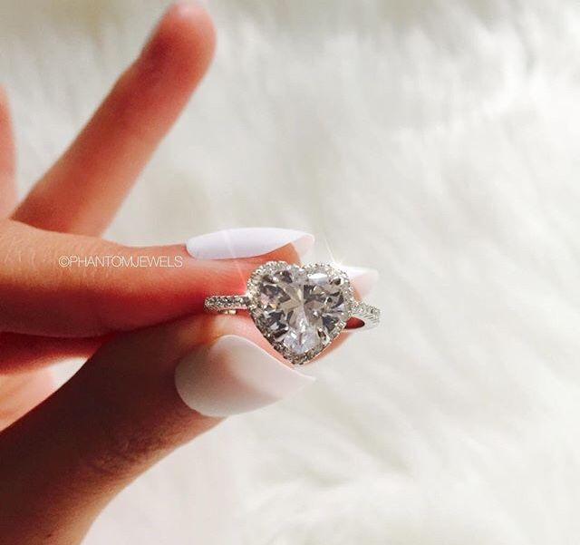 Heart shaped engagement ring | anillos corazon | Pinterest | Anillos ...