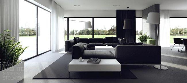Idées Décoration Interieur en noir et blanc | Intérieurs noirs, Idée ...