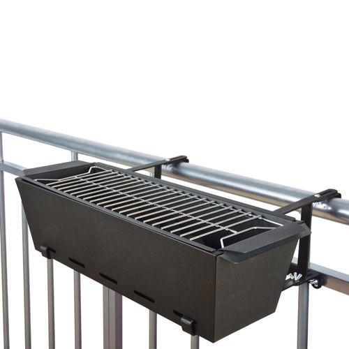 barbecue rectangulaire pour balcon en m tal noir projects to try pinterest m tal noir. Black Bedroom Furniture Sets. Home Design Ideas
