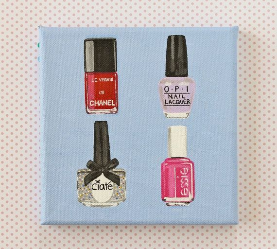 Nail Polish Painting On Canvas Varnish Essie Ciate Chanel Opi