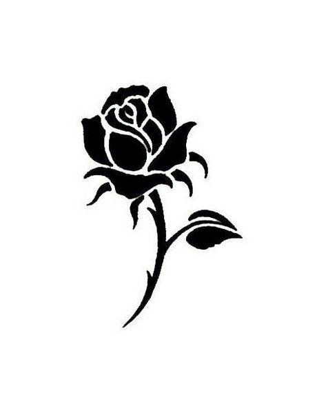 Afbeeldingsresultaat voor rose silhouette - Ideeën ...