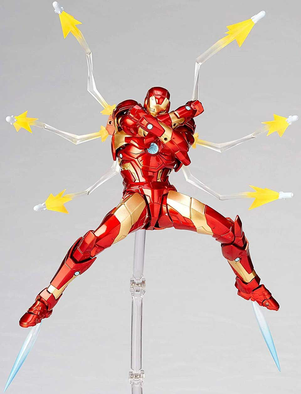 The Amazing Yamaguchi Iron Man Action Figure Is Ready For Poses Iron Man Action Figures Action Figures Iron Man Armor