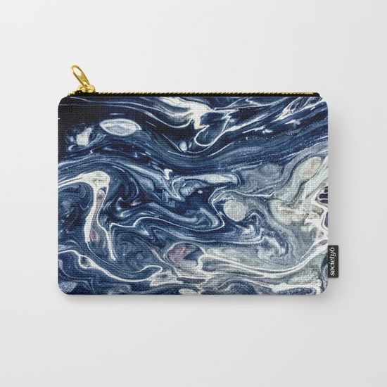 Wild Blueberry Swirl Carry-All Pouch by StoneDreams53 | Society6