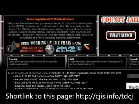 TDCJ Offender Search Demonstration | Prisons | Inmate search