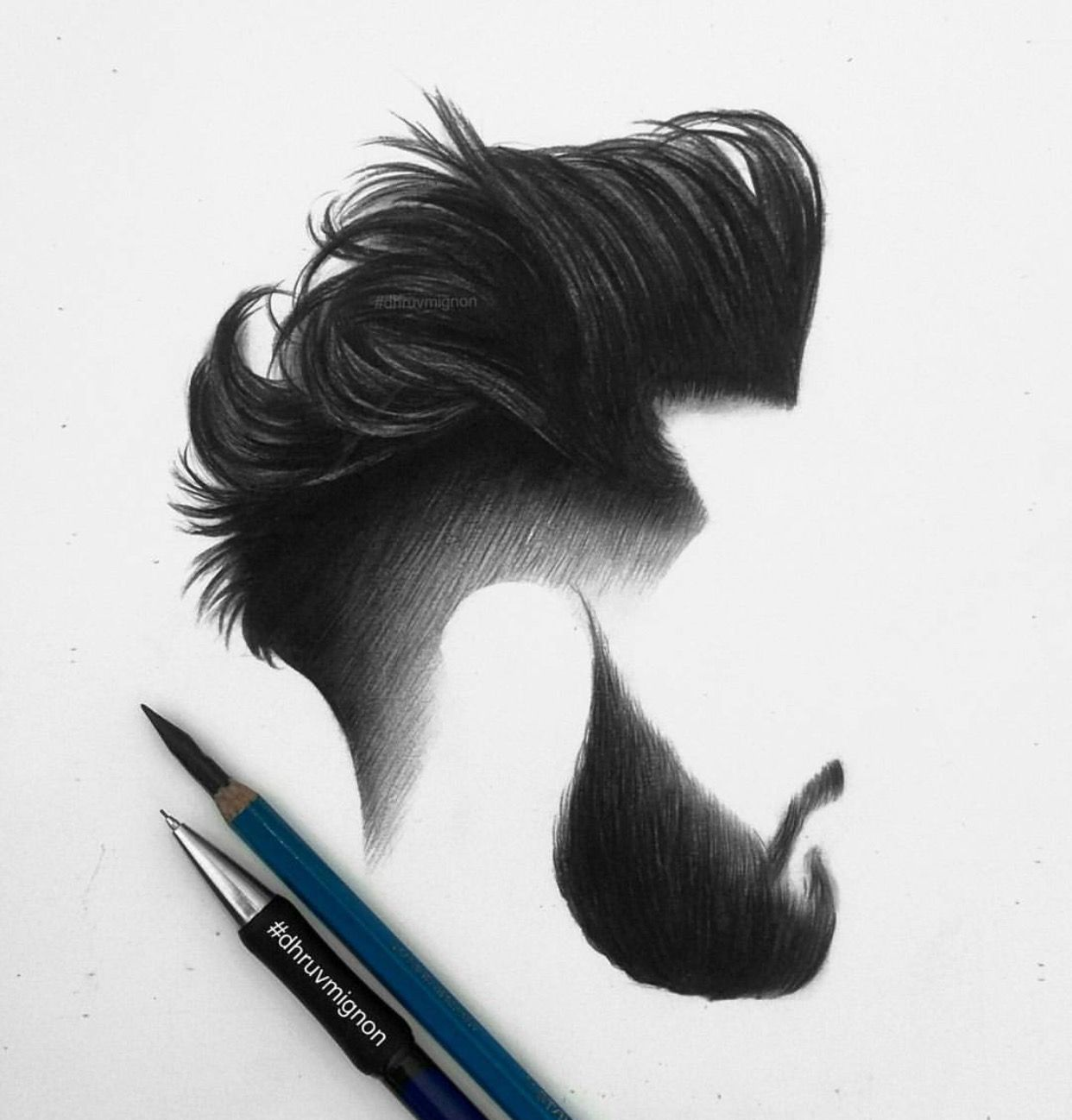 Boy haircuts drawing hair and beard detailed work dhruvmignon be inspirational mz