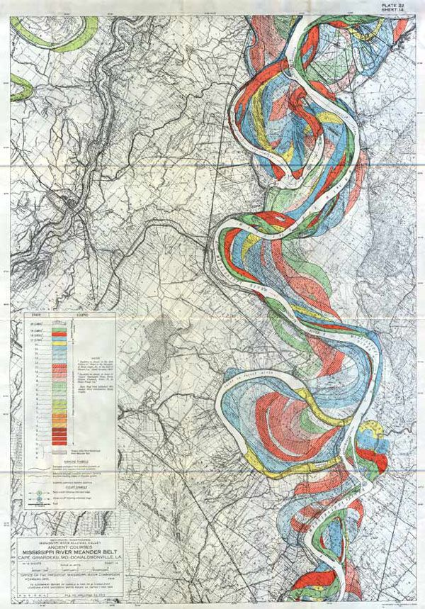 Gorgeous Vintage Maps Of The Mississippi Rivers Path Over Time - Maps mississippi