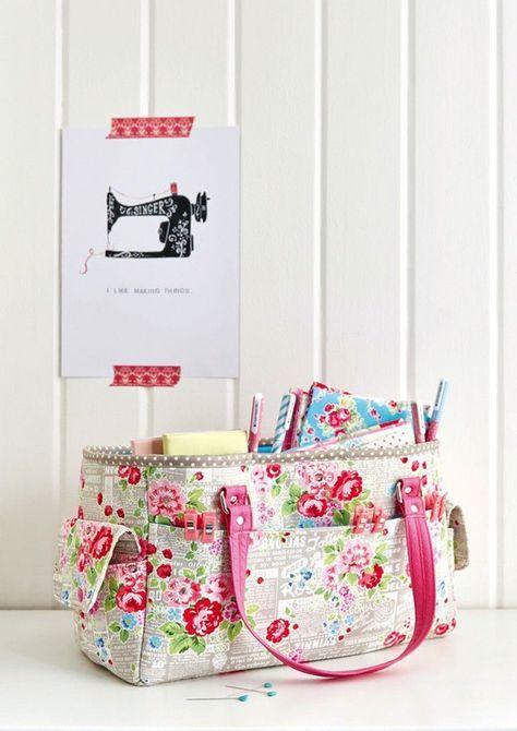 FREE Oslo Craft Bag pattern (Sew Sweetness) | Nähen, Taschen nähen ...