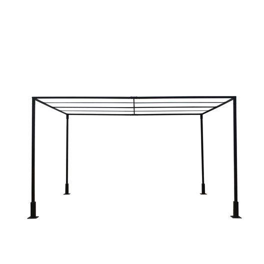 Pergola autoportante sans couverture acier noire 12 m for Pergolato in legno leroy merlin